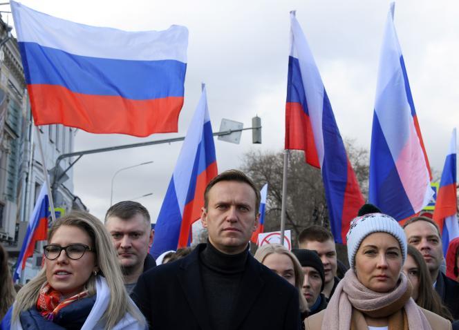 L'opposant russe, Alexeï Navalny, à Moscou en février 2020.