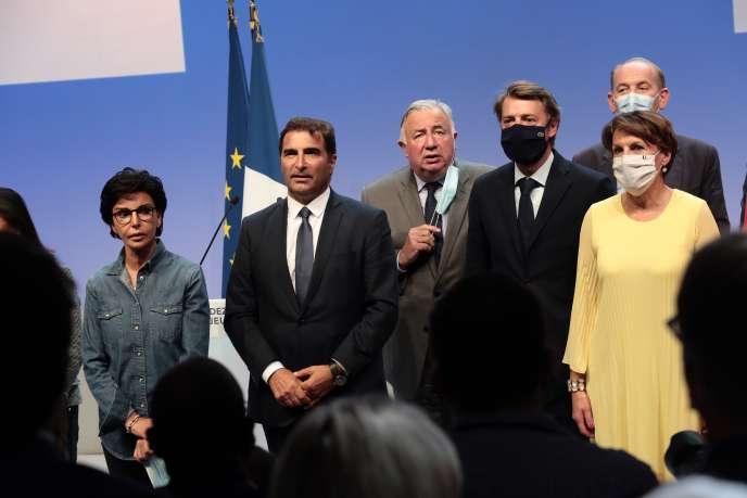 Rentrée du parti Les Républicains, au Port-Marly (Yvelines), le5septembre.