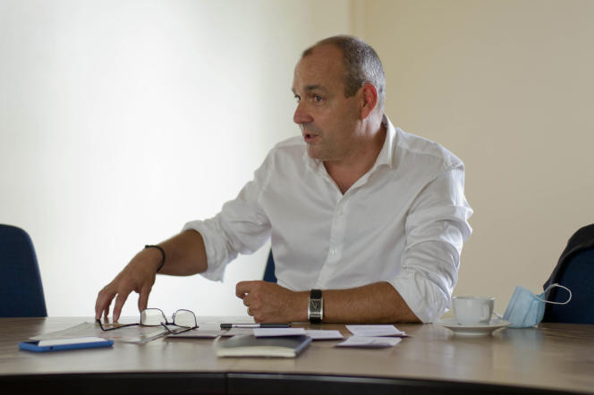 Laurent Berger au siège de la CFDT à Paris, le 31 août 2020.