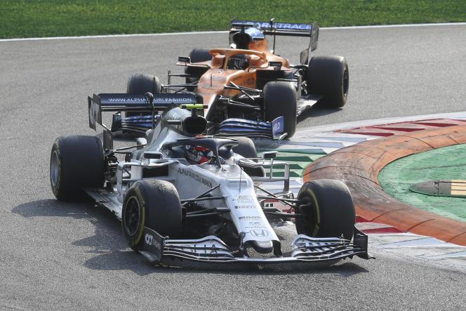 Pierre Gasly a résisté à Carlos Sainz Jr.