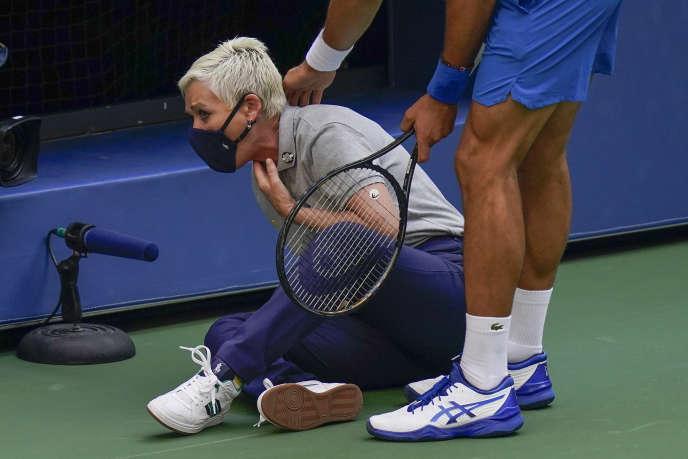 Le juge de touche a reçu une balle dans la gorge d'une balle tirée par Novak Djokovic le 6 septembre à Flushing Meadows.