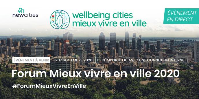 Le «Forum Wellbeing Cities» réunira en ligne, du 15 au 17 septembre, des participants venus de plus d'une centaine de villes.
