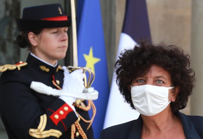 La ministre de l'enseignement supérieur, de la recherche et de l'innovation, Frédérique Vidal, à l'Elysée, le 26 août.