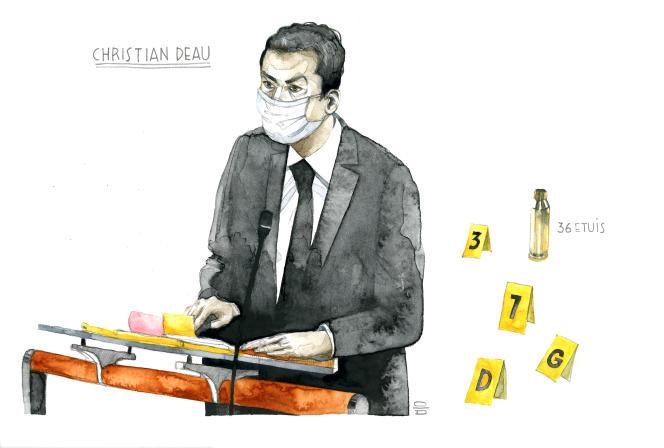 Christian Deau, à la cour d'assises spéciale de Paris, le 7septembre