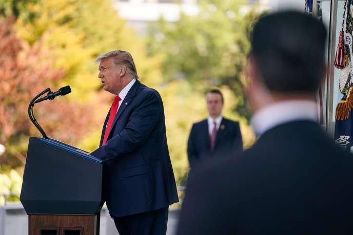 Le président Donald Trump lors de sa conférence de presse à la Maison Blanche à Washington le 7 septembre.