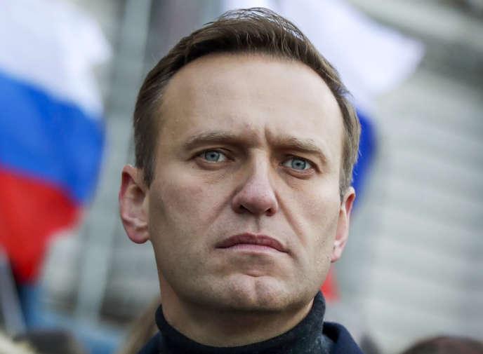 L'adversaire russe Alexey Navalny, à Moscou, le 29 février 2021.