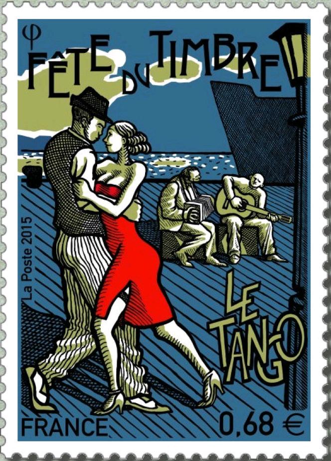 « Fête du timbre. Le tango», parChristophe Laborde-Balen (2015).