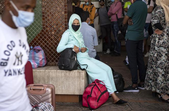 Gare routière de Casablanca en juillet 2020.