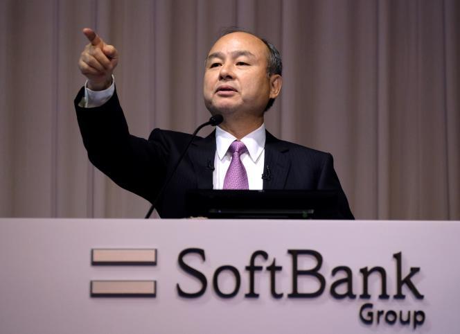 Le fondateur et PDG de SoftBank, Masayoshi Son, lors d'une conférence de presse, le 6 novembre 2019, à Tokyo.