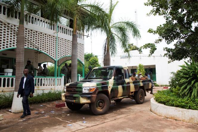 La base militaire de Kati, à une quinzaine de kilomètres de Bamako, la capitale malienne, le 29 août 2020.
