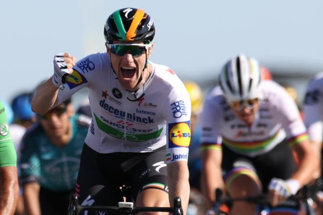 Pendant que Christian Prudhomme rentrait chez lui, le sprinteur irlandais Sam Bennett s'imposait à l'île de Ré.
