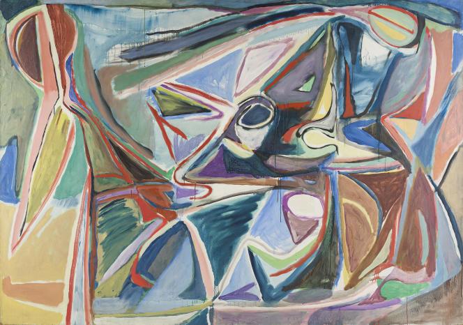 «Sans titre»(1956), de Bram van Velde. Huile sur toile, 170 cm × 242,5 cm. Achat, 1984.