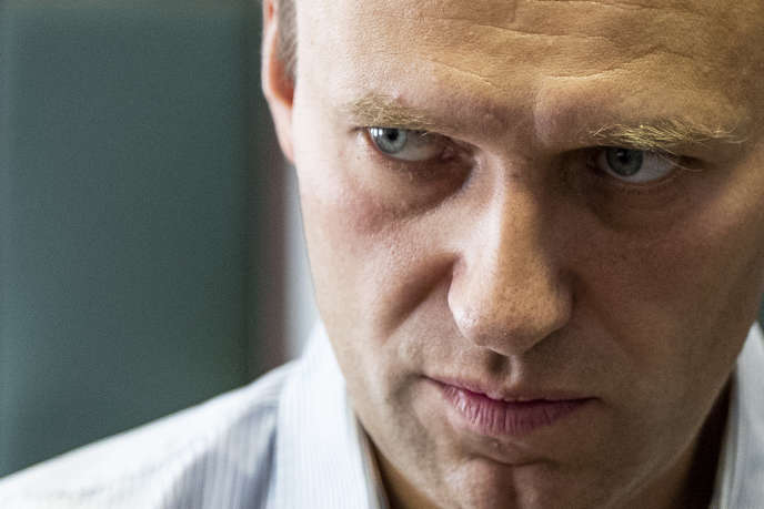 Alexeï Navalny, devant un tribunal de Moscou, enseptembre 2018.