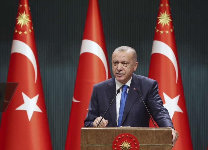 Le président turc Recep Tayyip Erdogan lors d'un discours à Ankara le 7 septembre.