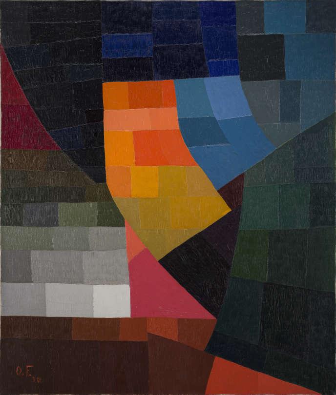 «Composition»(1930), d'Otto Freundlich. Huile sur toile, 116 cm × 89 cm. Achat, 1957.