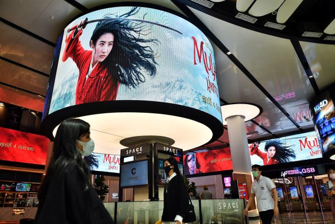 Dans un centre commercial de Bangkok (Thailande), le 8 septembre 2020.