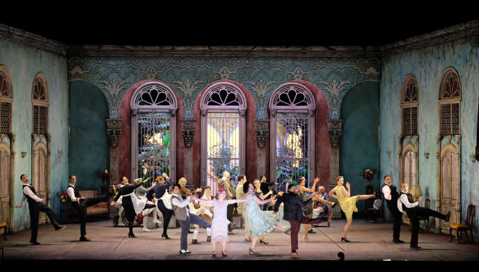 Représentation de l'opéra de Nicola Porpora «Carlo il Calvo»au Bayreuth Baroque Opera Festival, le 1er septembre 2020.