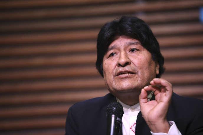 L'ancien président bolivien Evo Morales, en février 2020 à Buenos Aires (Argentine) où il vit en exil.