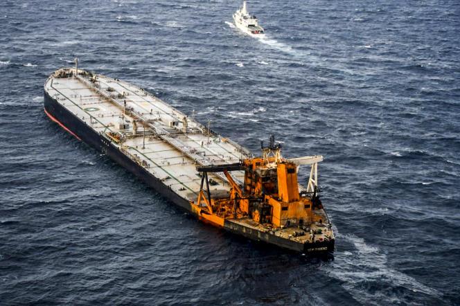 Le pétrolier« New-Diamond», le 9 septembre, dans l'océan Indien.