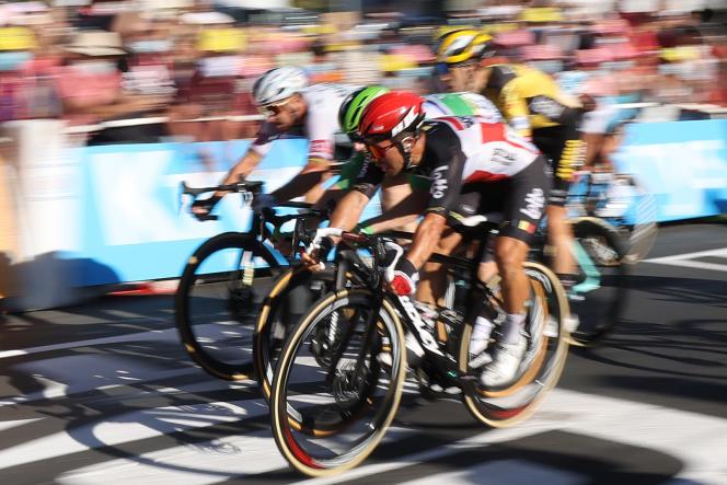 L'Australien Caleb Ewan a dû se montrer efficace pour remporter deux étapes au sprint (ici lors de la 11e étape, le 9 septembre).