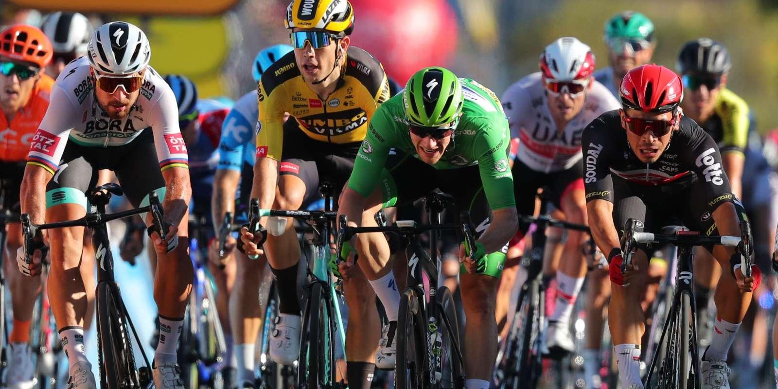 L'arrivée de la 11e étape du Tour de France, me9 septembre.