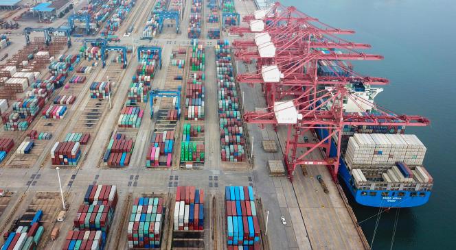 Des porte-conteneurs dans le port de Lianyungang (est de la Chine), le 14 juillet.