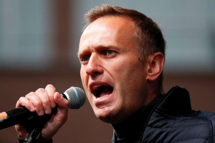 Le leader de l'opposition russe, Alexei Navalny, lors d'un discours à Moscou, en septembre 2019.