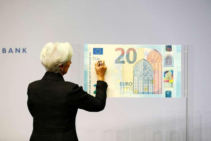 La présidente de la BCE, Christine Lagarde, au siège de l'institution monétaire, àFrancfort (Allemagne), en novembre 2019.