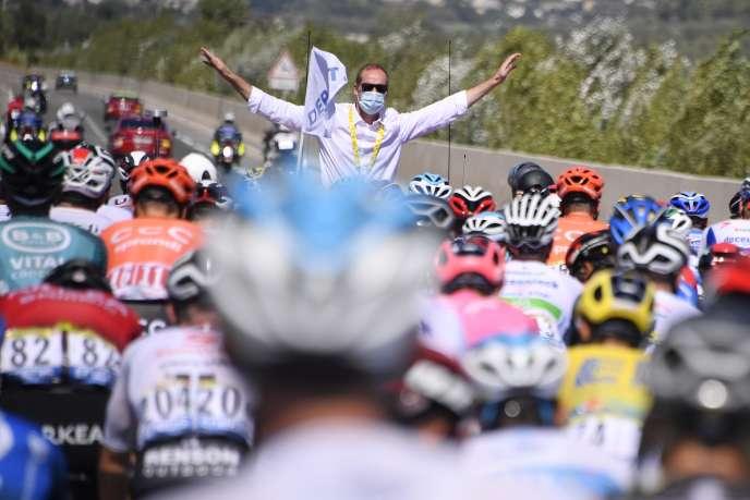 Christian Prudhomme, le directeur du Tour de France, a été obligé de se mettre à l'écart.