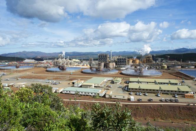L'usine de nickel Vale de Goro, en Nouvelle-Calédonie, en 2015.