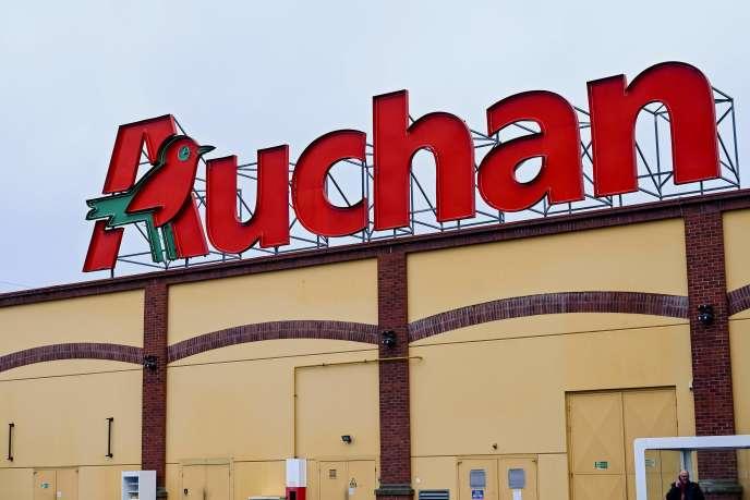 Un supermarché Auchan à Englos, dans le Nord, en janvier 2020.