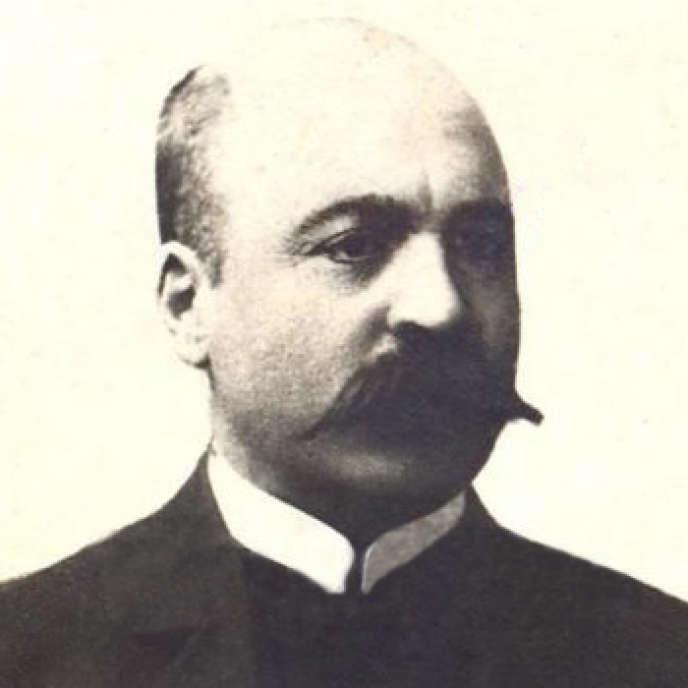 Jalil Mammadgulzadeh, fondateur du journal satirique« Molla Nasraddin», en 1906.