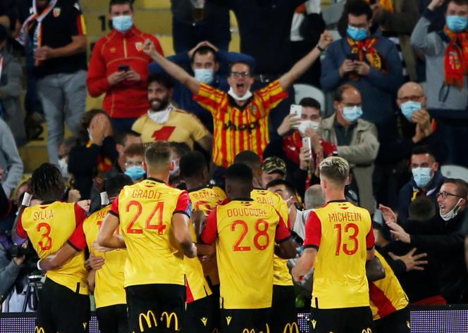 Après neuf ans d'attente, le public du stade Bollaert retrouve la joie de célébrer un but en Ligue 1, gràace àIgnatius Ganago, jeudi 10 septembre.