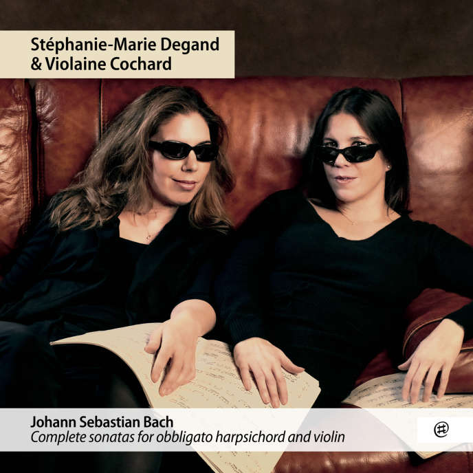 Pochette de l'album«Sonates pour clavecin et violon BWV 1014-1019», deJohann Sebastian Bach, parStéphanie-Marie Degand (violon) et Violaine Cochard (clavecin).