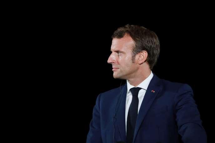 Emmanuel Macron, à Porticcio, en Corse, le 10 septembre.