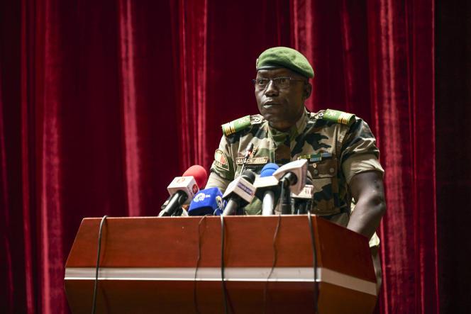 Le colonel Malick Diaw, vice-président du Comité national pour le salut du peuple (CNSP), à Bamako, le 5 septembre 2020.