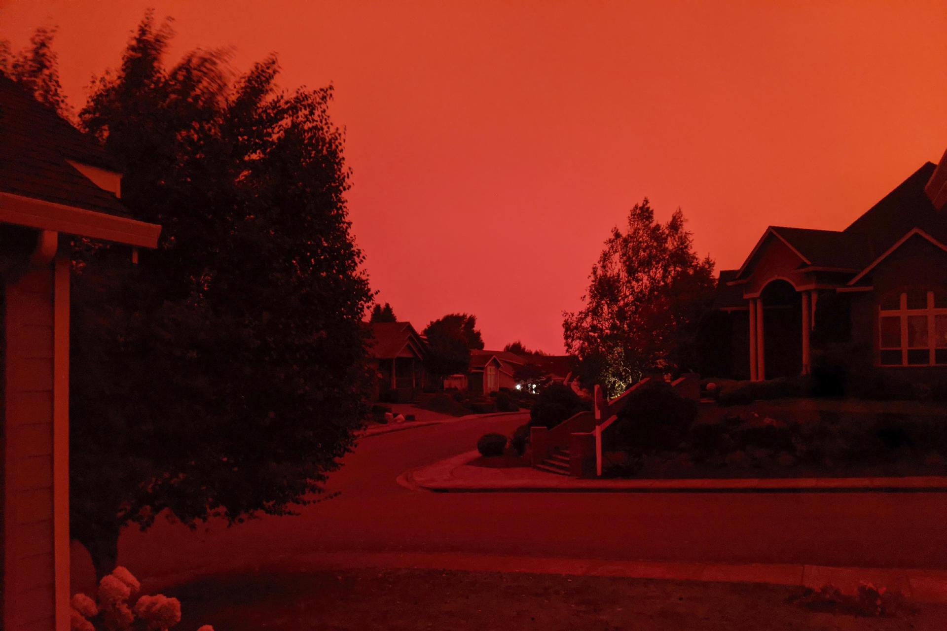 Le ciel apocalyptique de Salem dans l'Oregon à 17 heures, le 8 septembre.