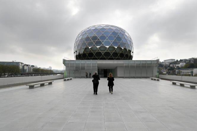 L'auditorium de La Seine musicale, sur l'île Seguin, à Boulogne-Billancourt (Hauts-de-Seine), le 5 avril 2017.