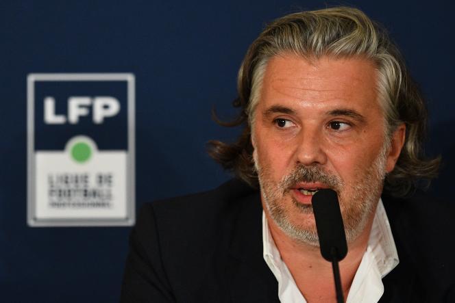 Vincent Labrune, tout nouveau président de la LFP, le 10 septembre à Paris.