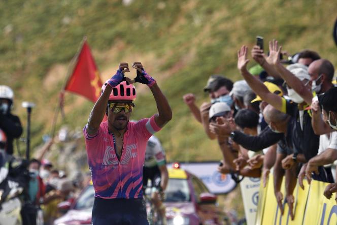 Le Colombien Daniel Martinez, vainqueur de la 13e étape, a fait sa déclaration d'amour au Tour à l'arrivée.