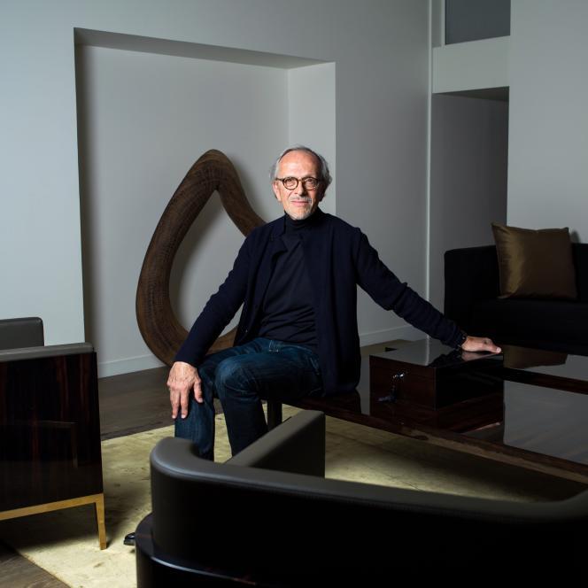 Christian Liaigre, architecte et designer, à Paris, en avril 2015.
