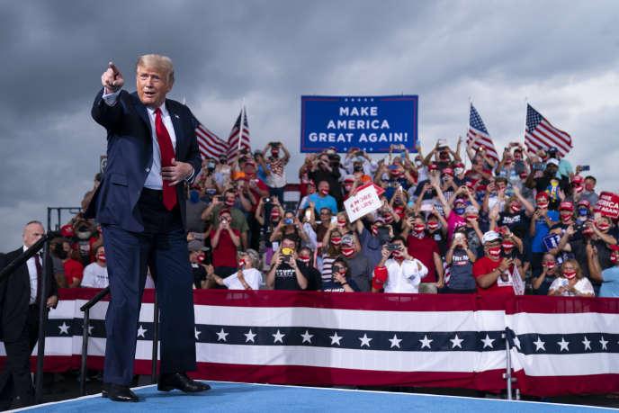 Donald Trump, lors d'un meeting à Winston-Salem (Caroline du Nord), le 8 septembre.