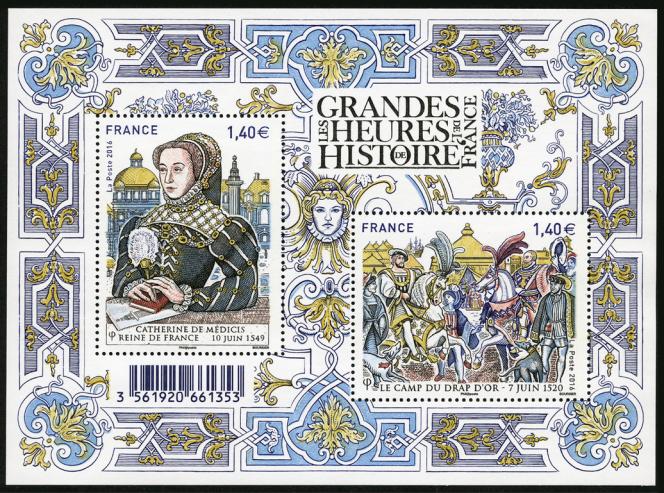 « Grandes heures de l'histoire de France», dessiné et gravé par Louis Boursier (2016).