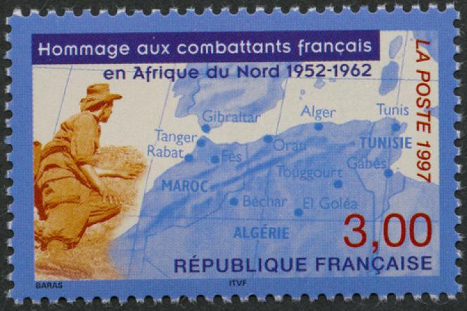 « Hommage aux combattants français en Afrique du Nord1952-1962 », par Aurélie Baras (1997).