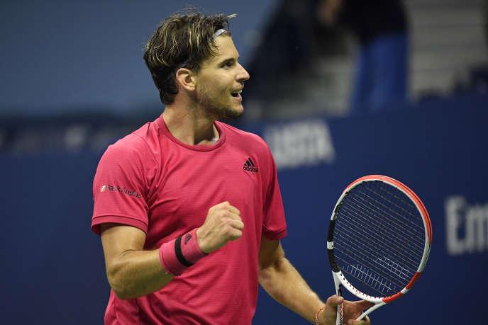 L'Autrichien Dominic Thiem, lors de sa victoire contre le Russe Daniil Medvedev, en demi-finale de l'US Open, vendredi 11 septembre.