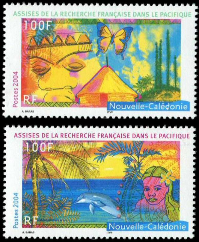 Les premiers timbres d'Aurélie Baras pour la Nouvelle-Calédonie sont parus en 2004.