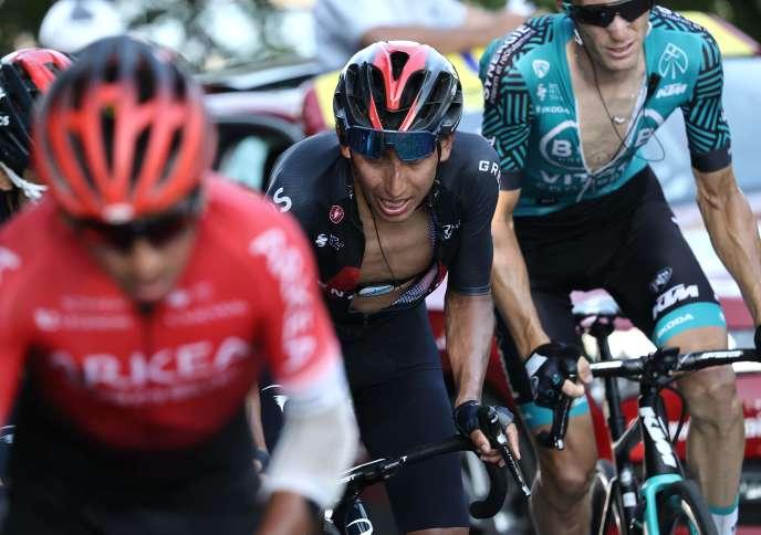 Egan Bernal a perdu le Tour de France, dimanche sur les pentes du col du Grand Colombier.
