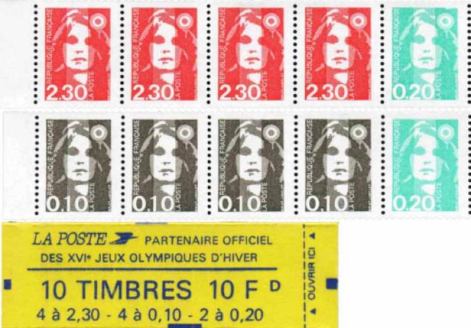 Carnet de timbres d'usage courant à composition variable paru en 1990.