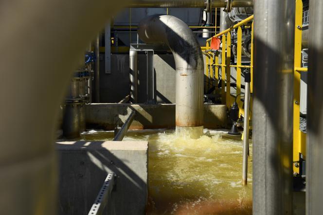 La nouvelle unité de traitement del'usine de Gardanne (Bouches-du-Rhône) d'Alteo, le 4 septembre 2020.