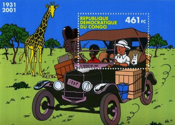 Bloc-feuillet de la République démocratique du Congo (2001).